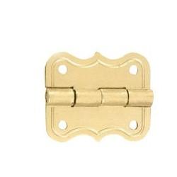 Charnière laiton 19x16 mm trous de 1,2mm la paire livrée sans clous