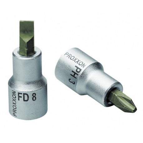"""Douille tournevis cruciforme 1/2"""" (12,5mm) Longueur 55mm en acier CrV"""