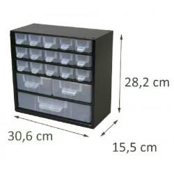 Casier en métal noir 18 tiroirs