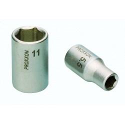 """Douille 1/4"""" (6,3mm) en acier CrV - Longueur 25 mm"""