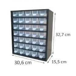 Casier en métal noir 35 tiroirs