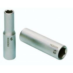 """Douille rallongée 1/4"""" (6,3mm) en acier CrV Longueur 50 mm"""