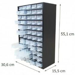 Casier en métal noir 60 tiroirs