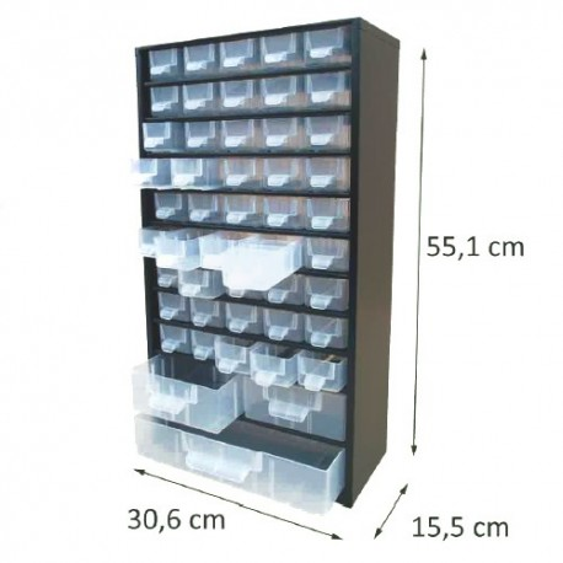 Casier en métal noir 48 tiroirs