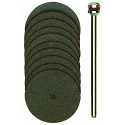 Disques à tronçonner en corindon Ø22 mm axe 2,35 - 10 pcs