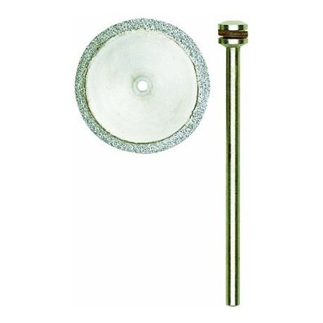 Disque à tronçonner diamanté 0,6 mm d'épaisseur Ø20 mm axe 2,35