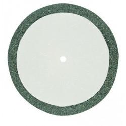 Disque à tronçonner diamanté 0,6 mm d'épaisseur Ø38 mm axe 2,35
