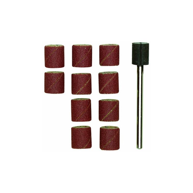 Papier émeri forme feuille cylindrique Ø10 mm grain 150 - 10 pcs