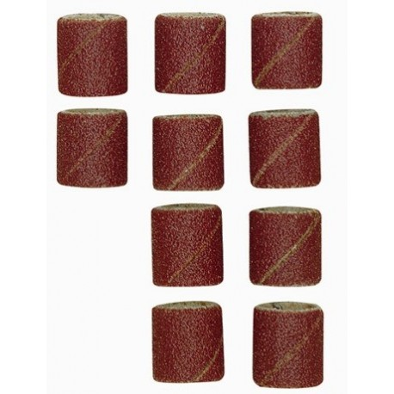 Papier émeri forme feuille cylindrique Ø10 mm grain 150 - 10 pcs + tige