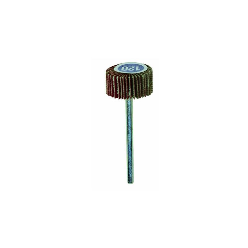 Meule à lamelles en grain normal Ø20 - grain 120 axe 3 mm