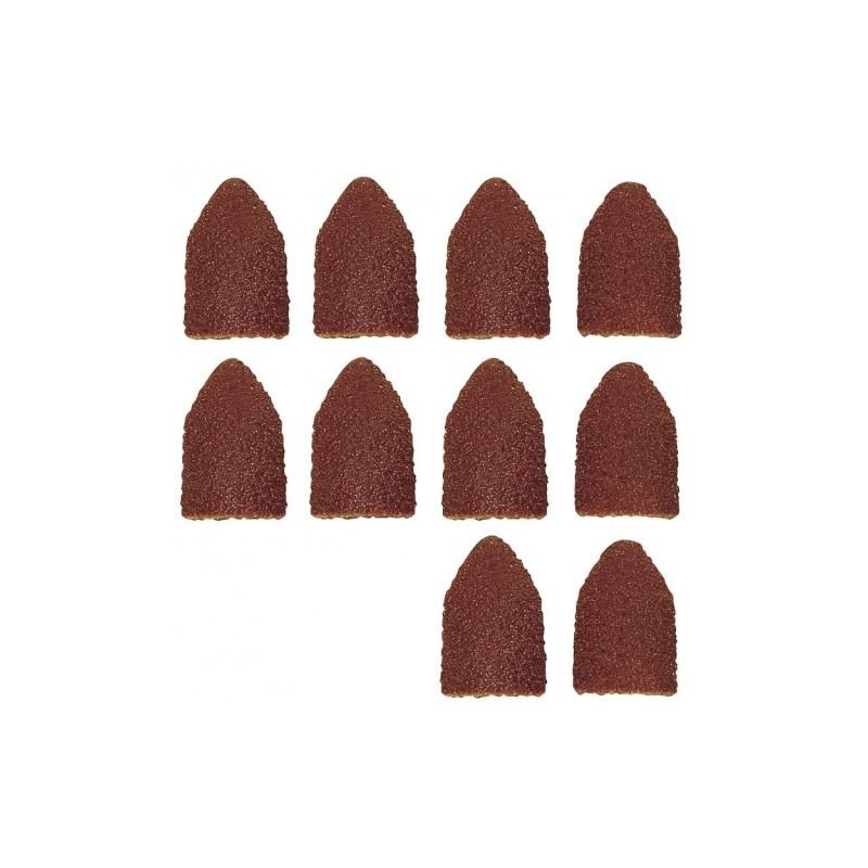Papier émeri forme capuchon Ø9 - grain 80/150 - 5 pcs de chaque