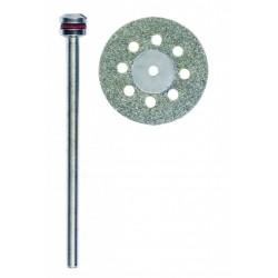 Disque diamanté diamètre 20mm avec aérations + tige de 2,35mm