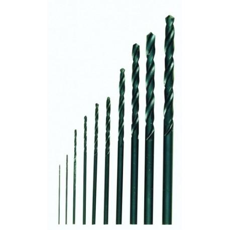 Forets en HSS DIN 338 jeu de 10 pcs de 0,3 à 3,2 mm