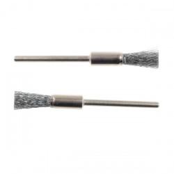 Brosses en acier inoxydable - pinceau fin - 2 pcs