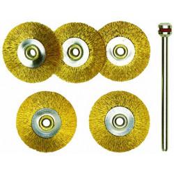 Brosses en laiton - disques Ø22 mm - 5 pcs