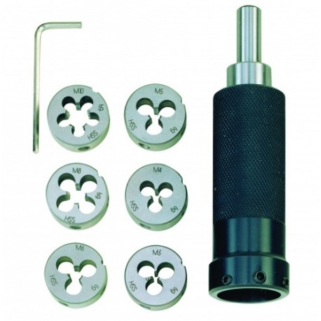 Porte-filière avec filière pour filets extérieurs de M3 à M10