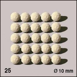 25 Boules d'éponge blanches 10 mm