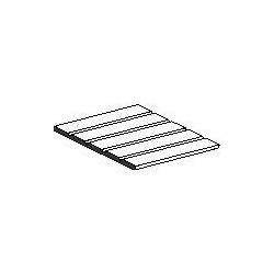 Plaque de styrène blanche wagon marchandises 150x300x0,5mm