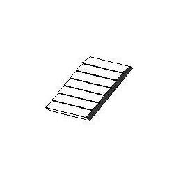 Planches superposées Plaque de styrène blanche 150x300x1mm