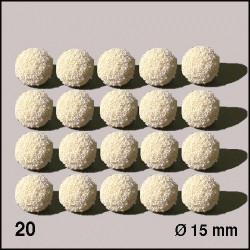 20 Boules d'éponge blanches 15 mm