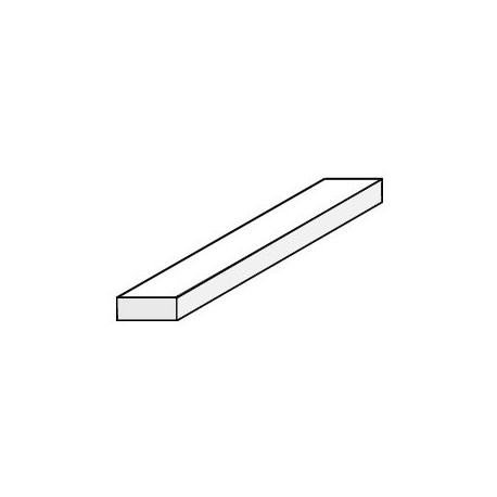 Strips Evergreen 1,0 mm x 2,5 mm - Sachet de 15