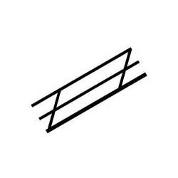 Plastruct : Sachet de 2 rambardes latérales N
