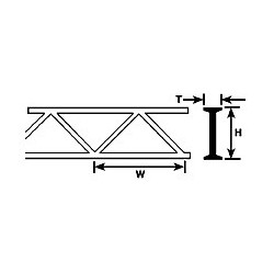 Profilé Plastruct styrène L 150 mm