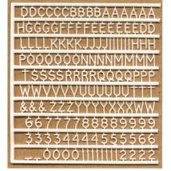 Planche de lettres de 6 mm de haut