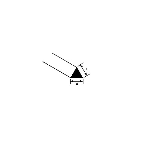 Profilé Triangulaire Plastruct styrène 2,0 mm