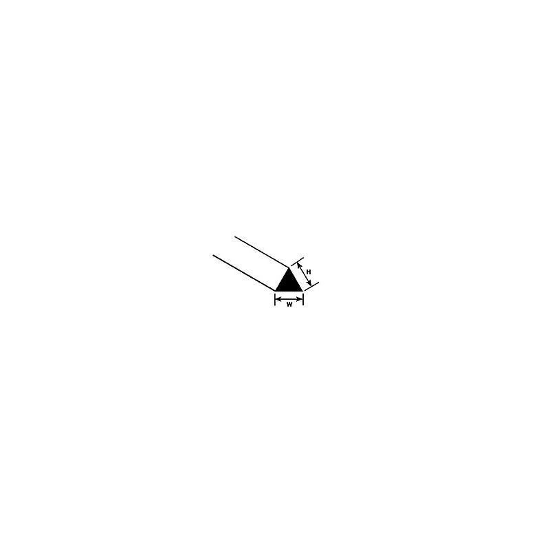 Profilé Triangulaire Plastruct styrène 1,5 mm