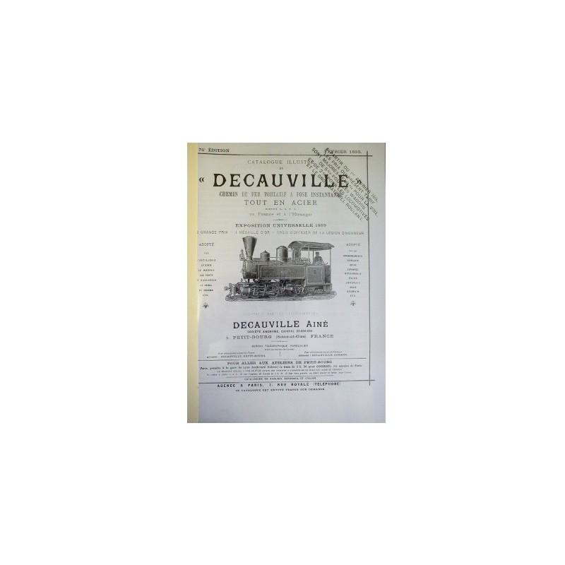 Catalogue des caractéristiques et prix des matériels vendus par DECAUVILLE en 1890