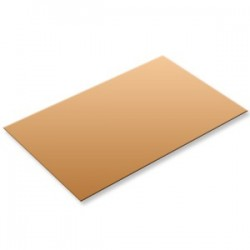 Plaque de cuivre format 200x200x2,0mm