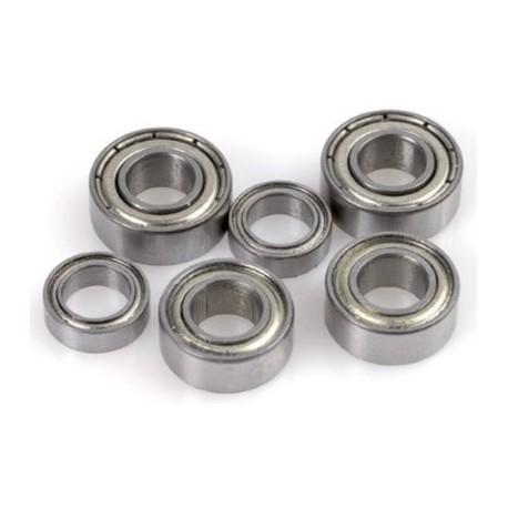 2x Roulements à billes 2x5x2,5 chrome ABEC 3 en acier flasques acier