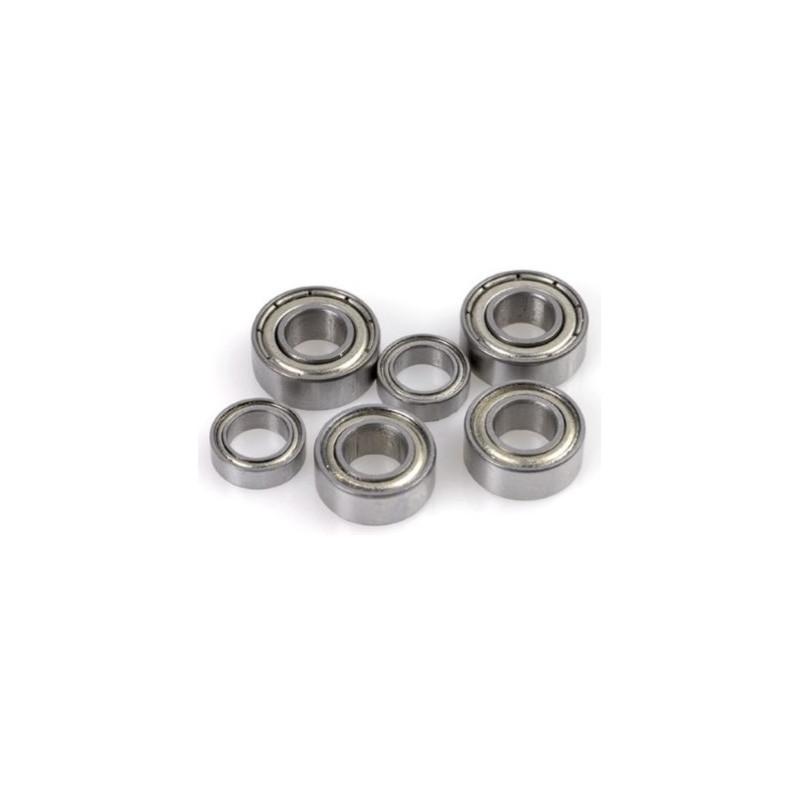 2x Roulements à billes 4x7x2,5 chrome ABEC 3 en acier flasques acier