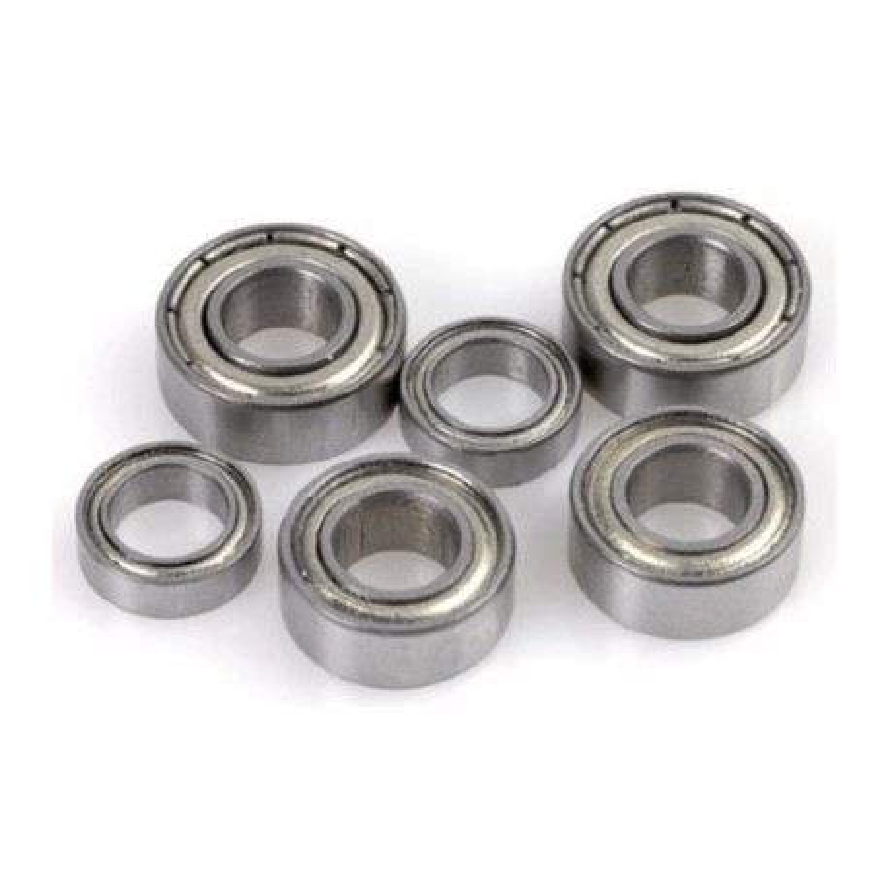 2x Roulements à billes 4x9x4 chrome ABEC 3 en acier flasques acier