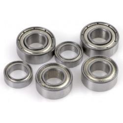 2x Roulements à billes 9x17x5 chrome ABEC 3 en acier flasques acier