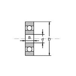 Roulement à bille sans épaulement - Type U2,5