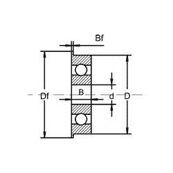 Roulement à bille avec épaulement - Type UF2,5