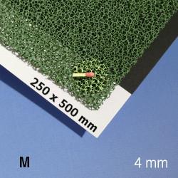 Mousse pour végétation, 500 x 250 x 4 mm, vert, texture moyenne