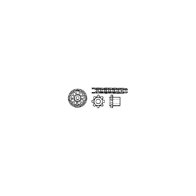 """Kit transmission à chaîne (1 chaine L 155 mm - 2 pignons 1/8"""" à 8 ou 9 dents)"""
