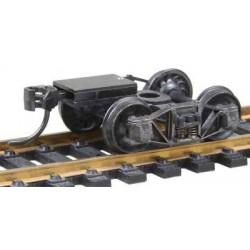 """HO/ Bogie de wagon TP """"Arch Bar"""" standard avec coupleurs prêts à monter - la paire"""