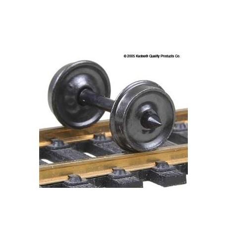 12 essieux HO avec roues en métal isolées