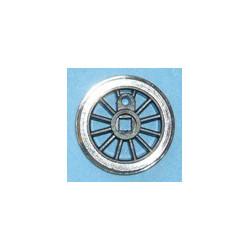 Roue type Romford Diamètre 15 mm, 12 rayons