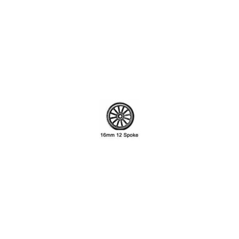 Roues à rayons - Essieu bissel sans pointes - Diamètre 16 mm