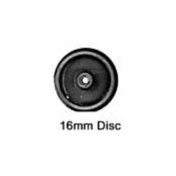 Roues à disque - Essieu bogie sans pointes - Diamètre 16 mm