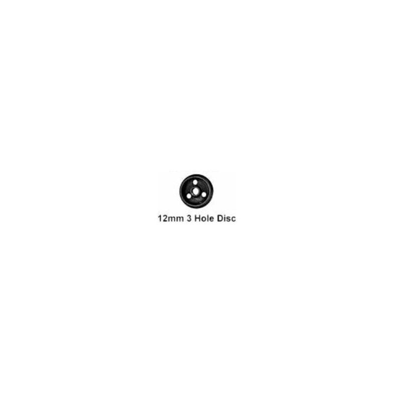 Roues à disque avec 3 trous - Essieu bogie/wagon avec pointes - Diamètre 12 mm
