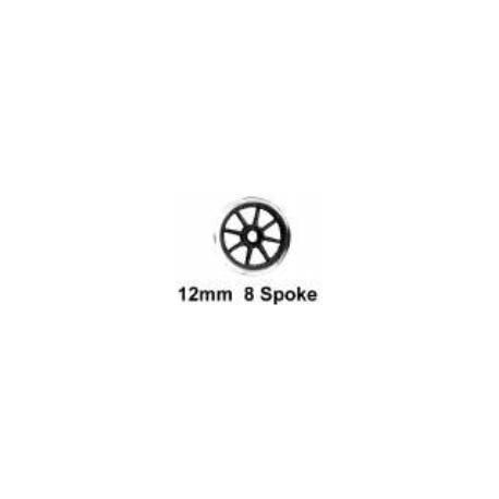 Roues à rayons - Essieu wagon avec pointes - Diamètre 12 mm