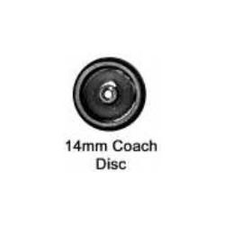 Roues à disque - Essieu coach (wagon) avec pointes - Diamètre 14 mm