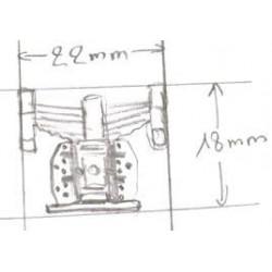 1/43 jeu de suspensions et boite à essieux pour détailler un locotracteur