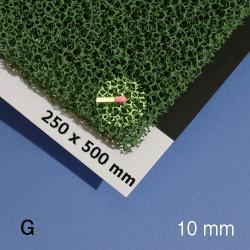 Mousse pour végétation, 500 x 250 x 10 mm, vert, texture grossière